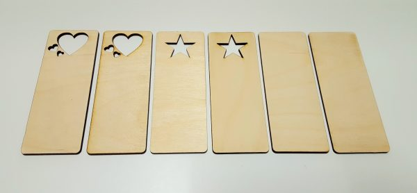 Pyrography or craft wooden bookmarks