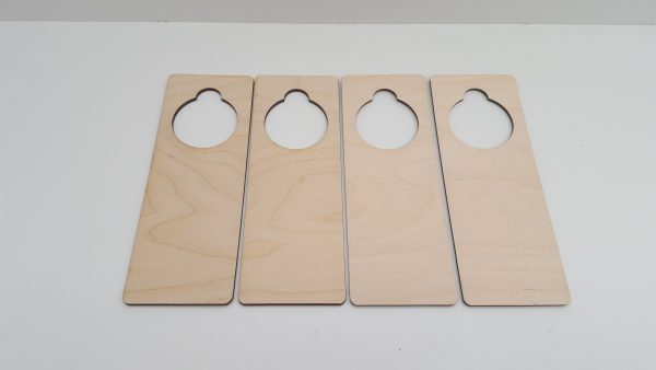 Pyrography or craft wooden door hangers