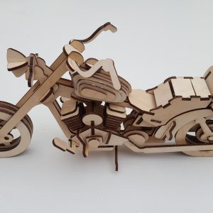 Wooden 3D Harley Davidson Model