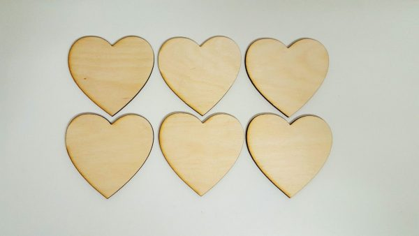 Pyrography or craft wooden Hearts