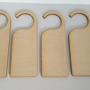 Pyrography or craft wooden Door hanger