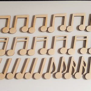Plywood musical notes
