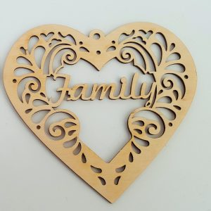 Decorative Heart - Family