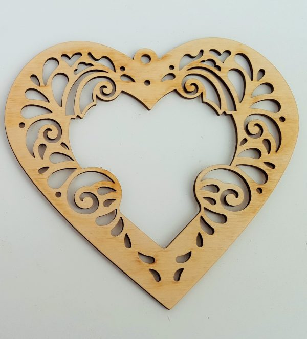 decorative heart - plain