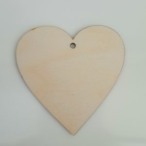 8cm Heart with Hole