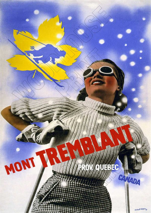 "Aluminium Retro Travel Sign - ""Mont Tremblant Canada"" MET007 1 MET007"