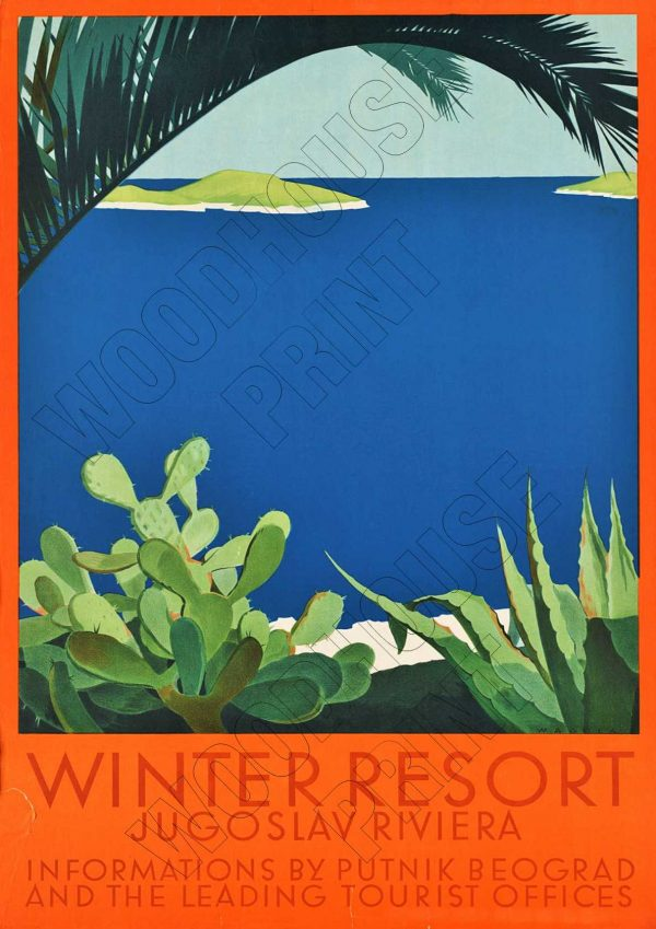 "Aluminium Retro Travel Sign - ""Winter Resort"" MET011 1 met011"
