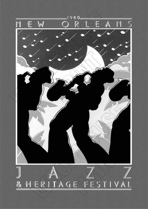 "Aluminium Retro Travel Sign - ""New Orleans Jazz"" MET017 1 met017"