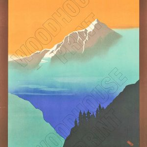 "Aluminium Retro Travel Sign - ""Indian State Railways - Kashmir"" MET022 7 met022"