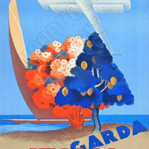 "Aluminium Retro Travel Sign - ""Garda Italia"" MET025 6 met025"