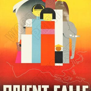"Aluminium Retro Travel Sign - ""Orient Calls"" MET029 6 met029"