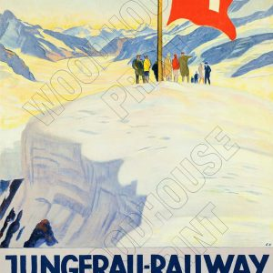 "Aluminium Retro Travel Sign - ""Jungfrau Railway - Switzerland"" MET030 5 met030"
