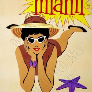 "Aluminium Retro Travel Sign - ""Miami - Braniff Airways"" MET033 6 met033"