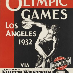 "Aluminium Retro Travel Sign - ""Olympic Games - LA 1932"" MET036 4 met036"
