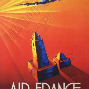 "Aluminium Retro Travel Sign - ""Air France"" MET044 6 met044 1"