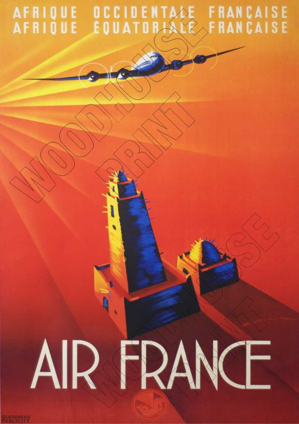 "Aluminium Retro Travel Sign - ""Air France"" MET044 1 met044 1"