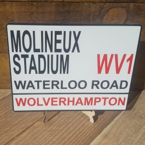 football street sign wolverhampton wanderers