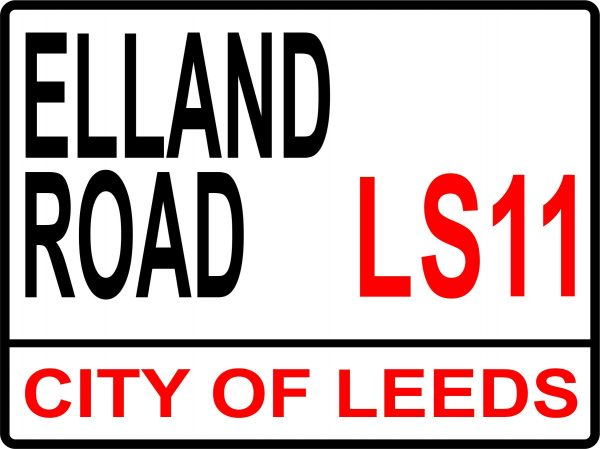 Elland Road football street sign