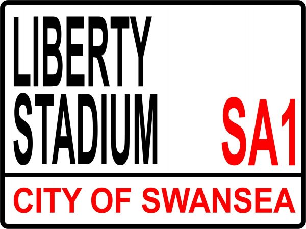 Aluminium Football Street Sign - Liberty Stadium 1 Liberty Stadium