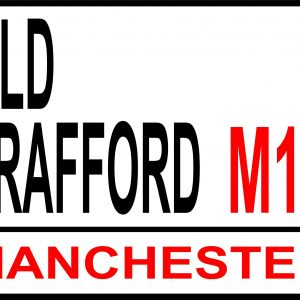 Old Trafford football street sign