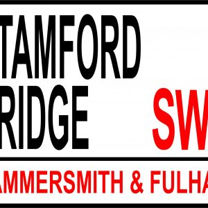 Stamford bridge football street sign