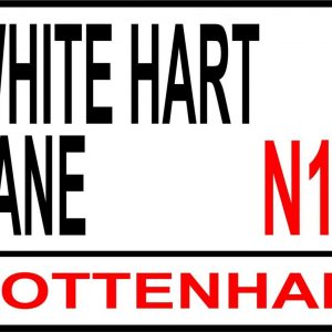 White Hart Lane football street sign